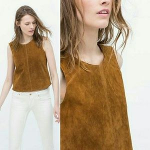 H&M l Faux Suede Sleeves Tank Top Large